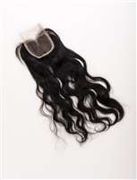 100% Lace Hand Tied Brazilian Remy Top Closure Wavy
