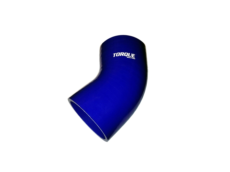"Torque Solution 45 Degree Silicone Hose Coupler Elbow 3/"" Black Universal"