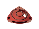 Torque Solution Blow Off BOV Sound Plate (Red): Plymouth GT Cruiser 03-07