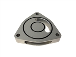 Torque Solution Blow Off BOV Sound Plate (Silver): Dodge Caliber SRT-4 08-09