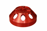 Torque Solution Lightweight Water Pump Pulley (Red): Hyundai Genesis Coupe 3.8 2010+