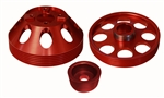 Torque Solution Lightweight Water Pump, Crank and Alternator Pulley Combo (Red): Hyundai Genesis Coupe 3.8 2010+