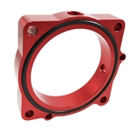 Torque Solution Throttle Body Spacer (Red): Dodge Challenger R/T / SRT8 2011-2012 V8-5.7/6.4L