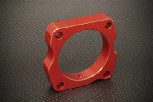 TORQUE SOLUTION TB THROTTLE BODY SPACER RED HONDA ACCORD V6 2003-2010
