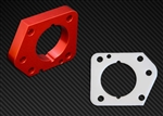 Torque Solution Throttle Body Spacer (Red): Honda Civic LX,EX,DX 2006-2011