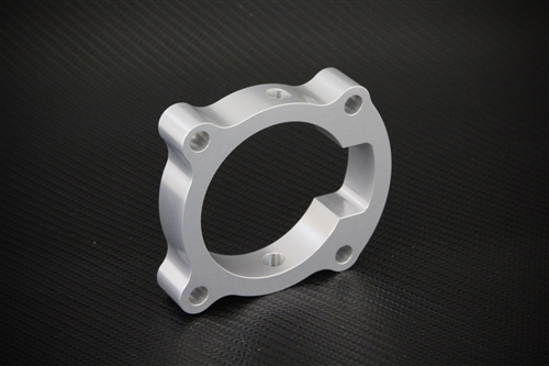 THROTTLE BODY SPACER for 2009 to 2012 ACURA TSX 2.4L Billet Aluminum Silver NEW