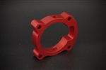 Torque Solution Throttle Body Spacer (Red): Hyundai Genesis Coupe 2.0T 2010-2012