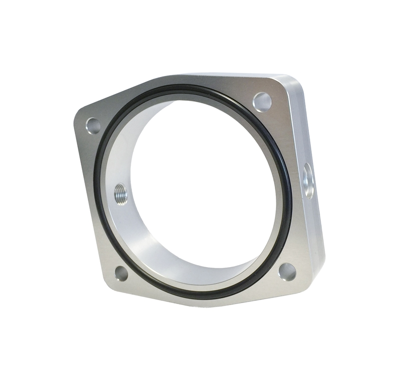 Torque Solution Throttle Body Spacer Silver Fits Nissan Vq35de Engines