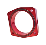 Torque Solution Throttle Body Spacer (Red): Fits Nissan VQ35DE Engines