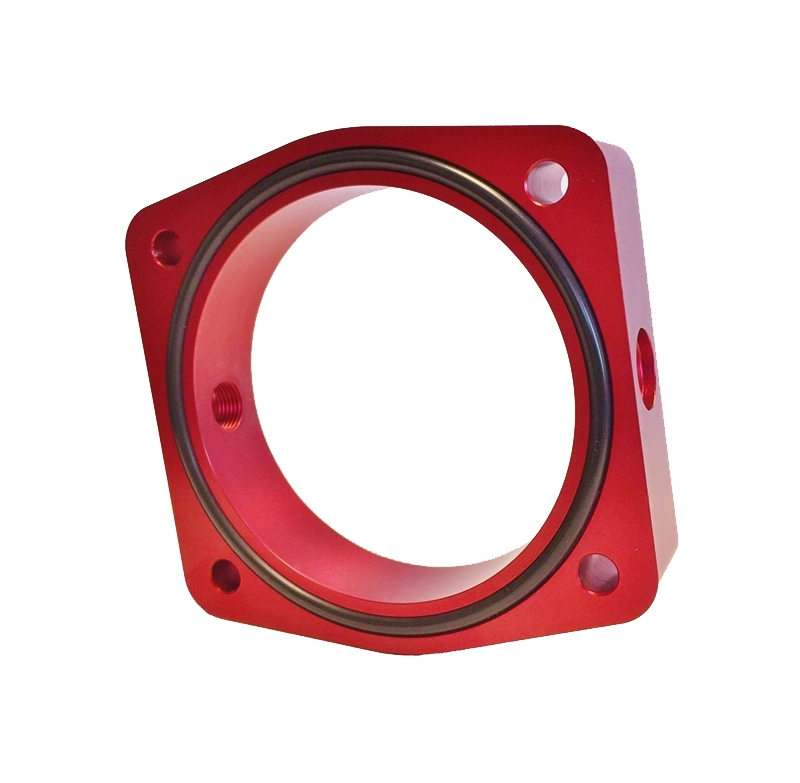 Torque Solution Throttle Body Spacer Red Fits Nissan Vq35de Engines