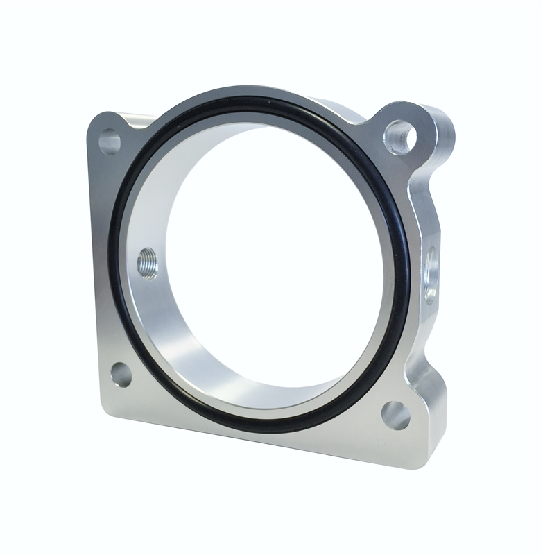 Torque Solution Throttle Body Spacer Silver Fits Genesis Coupe 2.0T 2013+