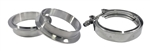 "Stainless Steel V-Band Clamp & Flange Kit: 3.5"" (89mm)"