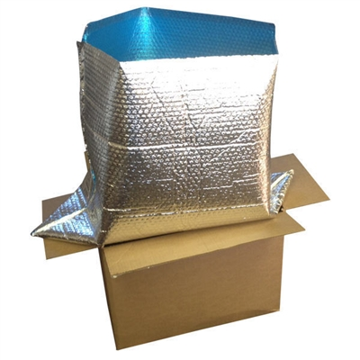 "Foil Insulated Box Liners - 14"" x 14"" x 14"""