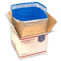 "Foil Insulated Box Liners - 7"" x 7"" x 6"" (Fits in USPS Priority O-Box 4 Cubed)"