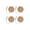 "Round Tan Cloth Electrodes (2"" - 3"" Round)"
