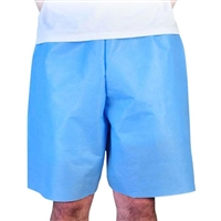 Exam Shorts, Blue - 50/Case