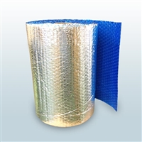"Cool Blue Foil Bubble Roll, 24"" x 125"""