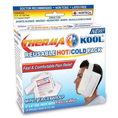 "Therma-Kool Reusable Hot/Cold Pack Boxed MINI / FACE - 4"" x 6"""