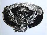 Hart & Huntington Skull Wings Belt Buckle