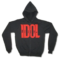 Billy Idol Idolize Yourself A.A. Zip Up Hooded Fleece