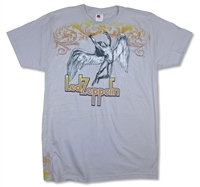 Led Zeppelin Swan Song Ornate on Platinum Gray Tee