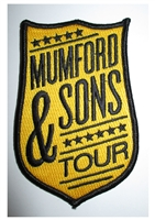 Mumford & Sons Embroidered Yellow Shield Patch