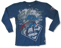 Superman Breaks Chains Trunk LTD Youth/Infant Long Sleeve Tee