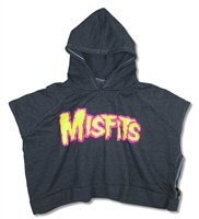 The Misfits Pink Outline Trunk LTD Hooded Fleece Youth Poncho