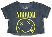 Nirvana Smile Trunk LTD Youth Cropped Fleece Baby Doll