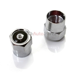 Pool 8 Ball Metal Chrome Tire Valve Stem Caps