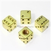 Yellow Gold Dice Tire Valve Stem Caps