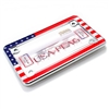 USA Flag Chrome Motorcycle License Plate Frame