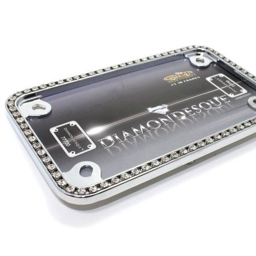 Diamond Bling Chrome Motorcycle License Plate Frame