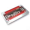 Classic Chrome Motorcycle License Plate Frame