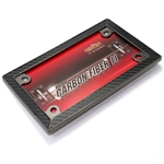 Carbon Fiber Motorcycle License Plate Frame
