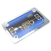 Neo Chrome Motorcycle License Plate Frame