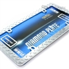 Diamond Plate Chrome Metal License Plate Tag Frame for Auto-Car-Truck