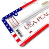 USA American Flag Chrome Plastic License Plate Tag Frame for Auto-Car-Truck