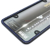 Blue Diamond Bling Crystals Black License Plate Tag Frame for Auto-Car-Truck