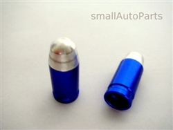 Blue Bullet Tip Tire Valve Stem Caps