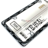 Tribal Design Plastic Chrome License Plate Tag Frame for Auto-Car-Truck