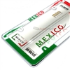 Mexico Flag Plastic Chrome License Plate Tag Frame for Auto-Car-Truck