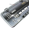 Dodge Ram Chrome-Black License Plate Tag Frame for Auto-Car-Truck
