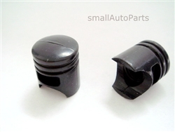 Black Piston Tire Valve Stem Caps