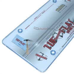 Blue Tinted License Plate Tag Frame Cover Shield Protector for Auto-Car-Truck