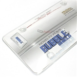 Clear License Plate Tag Frame Cover Bubble Shield Protector for Auto-Car-Truck