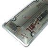 Chrome Plastic License Plate Tag Frame + Smoke Tinted Shield Cover for Car-Truck