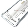 Classic Lite Plain Metal Chrome License Plate Tag Frame for Auto-Car-Truck