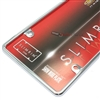 Plain Slim Thin Chrome Metal License Plate Tag Frame for Auto-Car-Truck