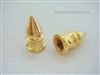 Yellow Gold Spike Tire Valve Stem Caps